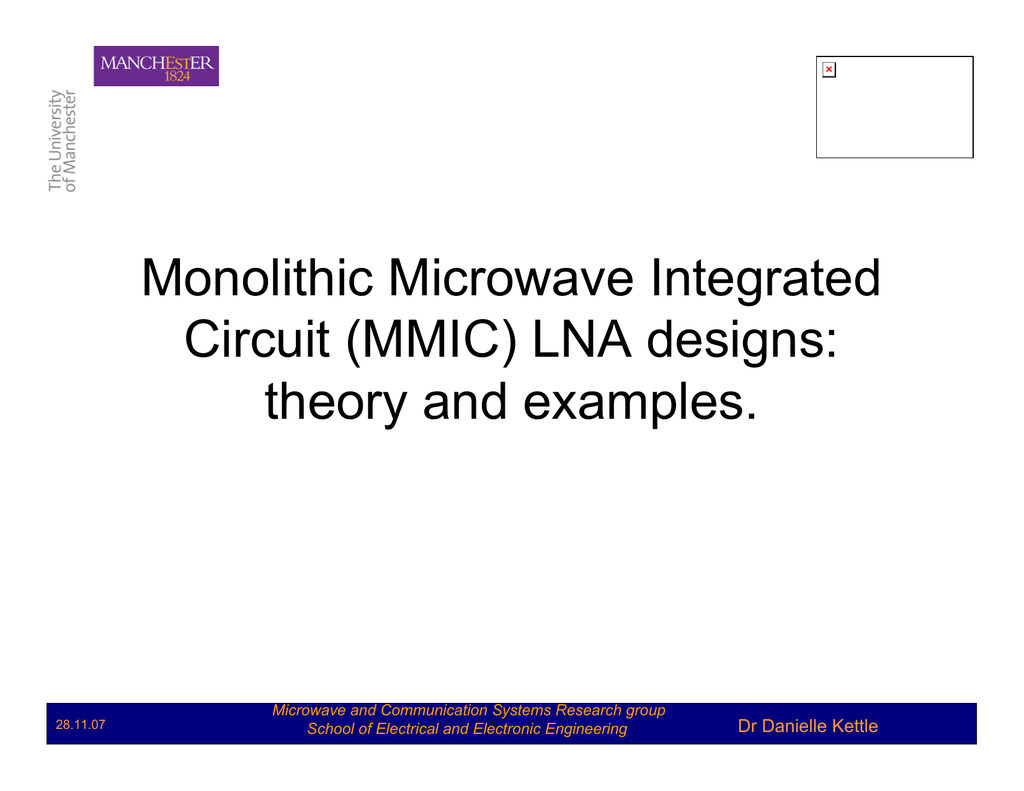 26 Monolithic Microwave Integrated Circuit Mmic Examples Of Circuits