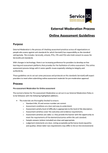 Online Pre-moderation assessment guidelines