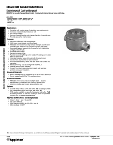GR and GRF Conduit Outlet Boxes Catalog Pages