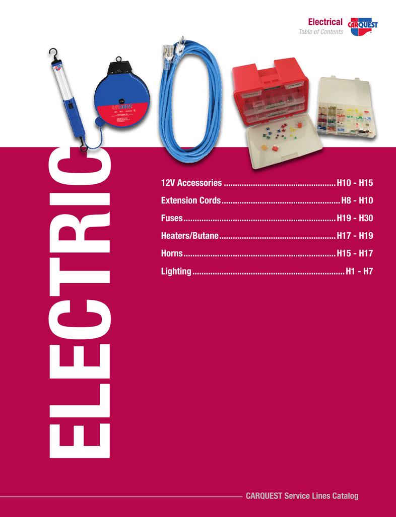 Electrical Carquest Auto Parts