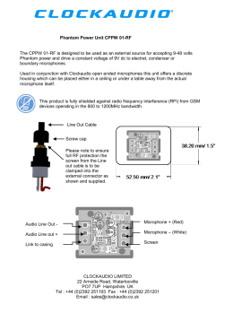 CPPW 01-RF User Guide