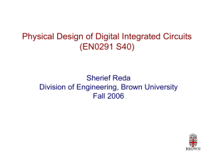Physical Design of Digital Integrated Circuits (EN0291 S40)