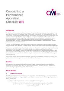 Conducting A Performance Appraisal - CMI