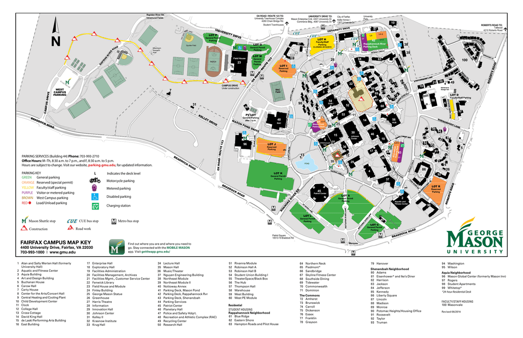 Parking Map University Information
