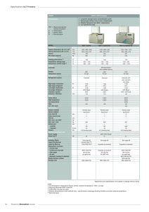 Specifications ULT Freezers