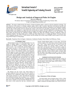 Design and Analysis of Improved Pulse Jet Engine