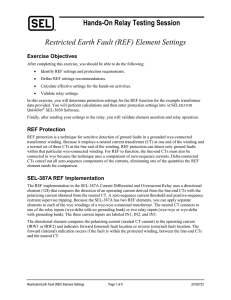 Hands-On Relay Testing Session Restricted Earth Fault (REF