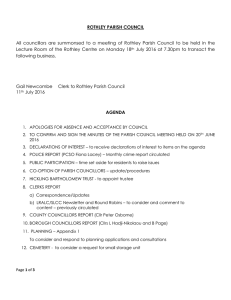 Agenda Full Parish Council Meeting 20160716
