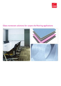 Glass nonwoven solutions for carpet tile flooring applications