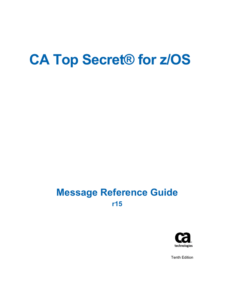 Ca top secret option for db2 product guide | manualzz.