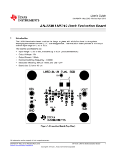 LM5019 Buck Evaluation Board (Rev. A)