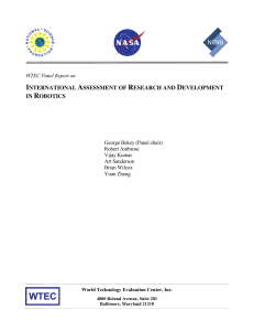 international assessment of research and development in robotics