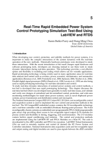 Real-Time Rapid Embedded Power System Control