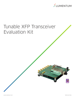 Tunable XFP Transceiver Evaluation Kit