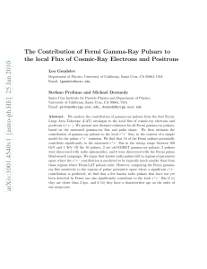The Contribution of Fermi Gamma-Ray Pulsars to the local Flux of