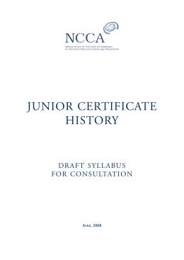 Junior certificate History