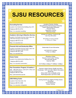 SJSU RESOURCES