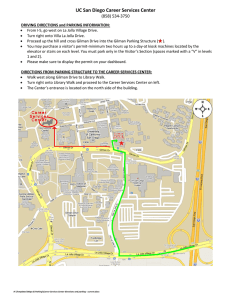 directions and map to the Career Services Center