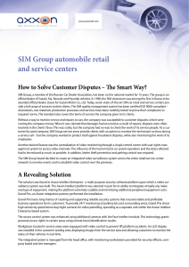 SIM Group automobile retail and service centers
