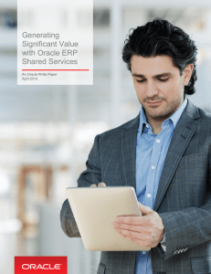 Generating Significant Value with Oracle ERP Shared Services