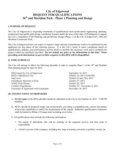 RFQ -- 36th and Meridian Park- Phase I