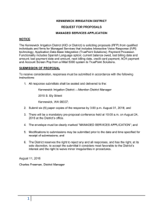 Managed Services Application - Kennewick Irrigation District