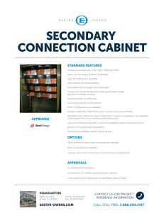 secondary connection cabinet