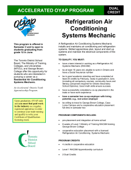 Refrigeration Air Conditioning Systems Mechanic
