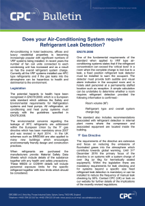 Does your Air-Conditioning System require Refrigerant