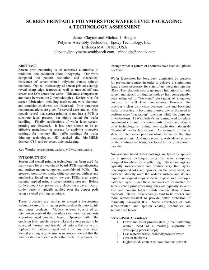 as a PDF - Epoxy Technology Inc
