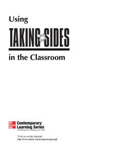 Using Taking Sides in the Classroom