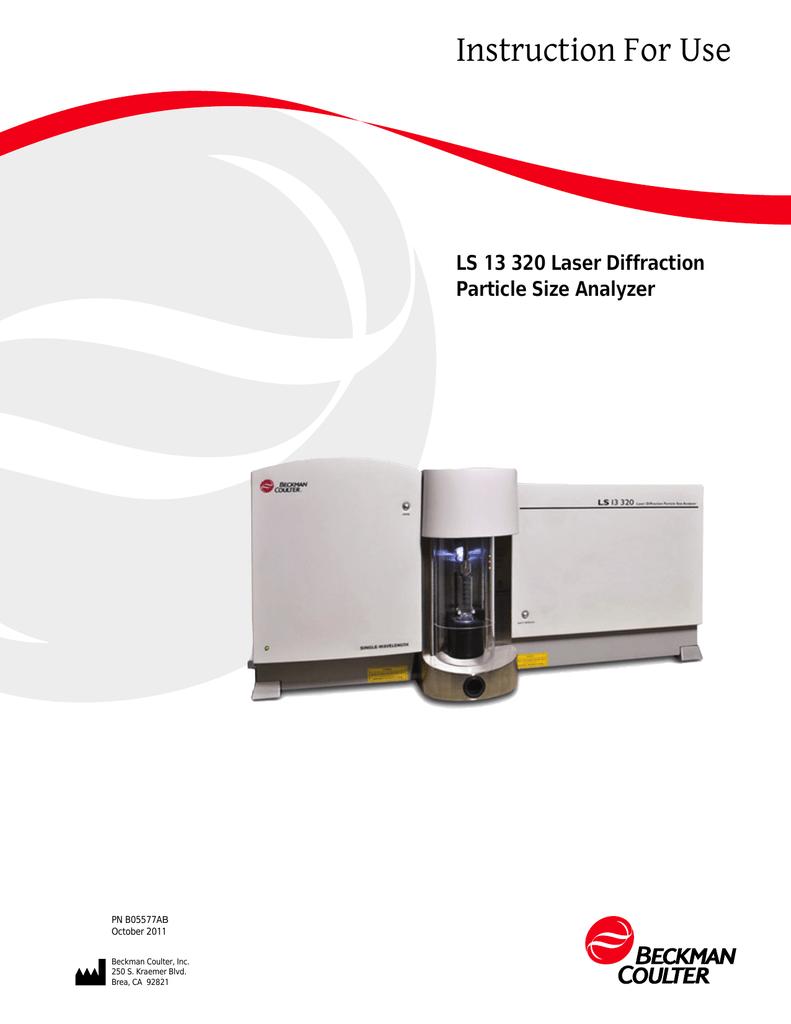 LS 13 320 Laser Diffraction Particle Size Analyzer