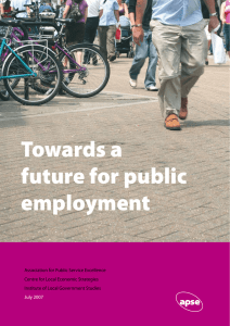 Towards a Future for Public Employment