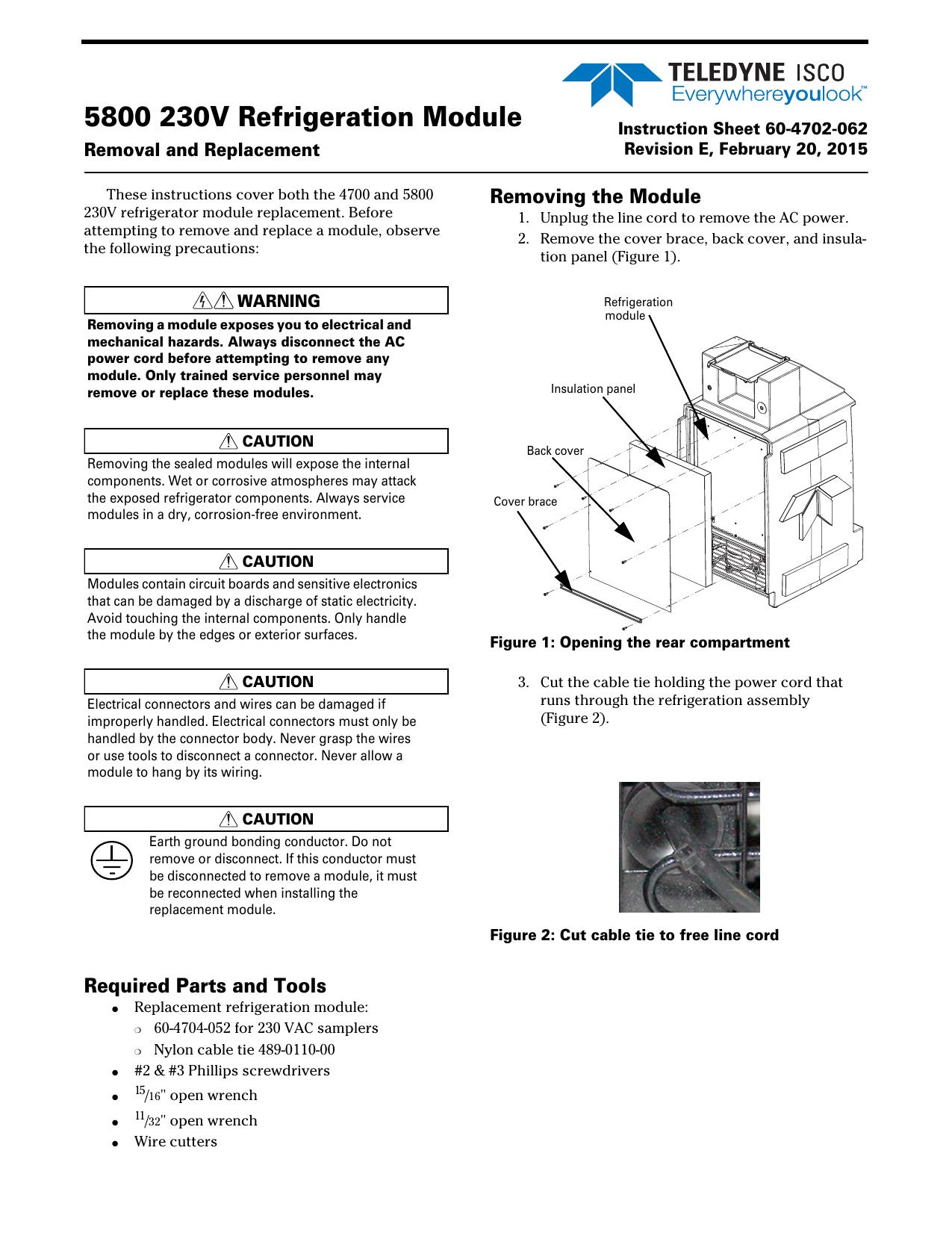5800 230v Refrigeration Module Wiring