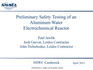 Preliminary Safety Testing of an Aluminum