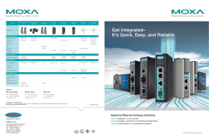 """Industrial Ethernet Gateway"" brochure di Moxa"