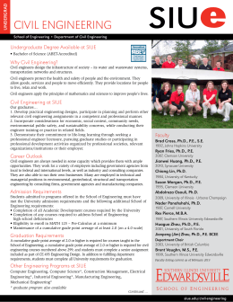 civil engineering - Southern Illinois University Edwardsville