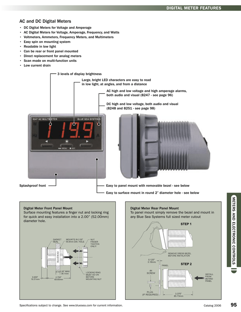 Meters And Electronic Controlsindd The Distance Between Connection Of Discharge Side Ammeter
