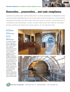 Renovation… preservation… and code compliance. - Won-Door