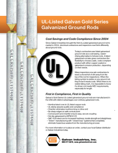 UL-Listed Galvan Gold Series Galvanized Ground Rods