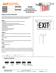 Recessed LED Edge-Lit Exit Sign with Battery Back