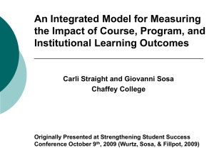 An Integrated Model for Measuring the Impact of Learning Outcomes