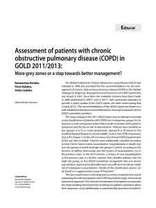 Assessment of patients with chronic obstructive pulmonary disease
