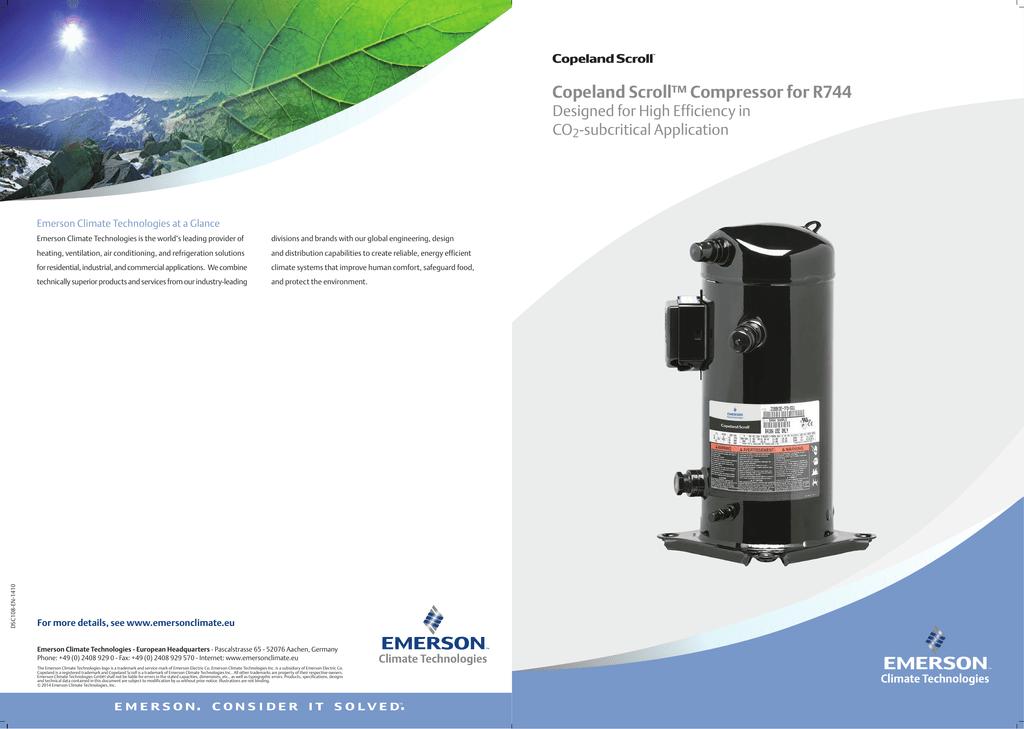 Copeland Scroll™ Compressor for R744