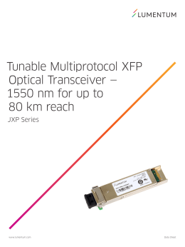 Tunable Multiprotocol XFP Optical Transceiver—1550