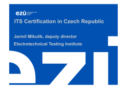 ITS Certification in Czech Republic