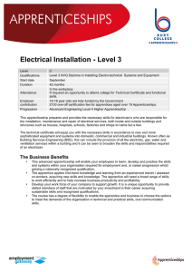 Electrical Installation - Level 3