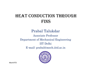 HEAT CONDUCTION THROUGH FINS