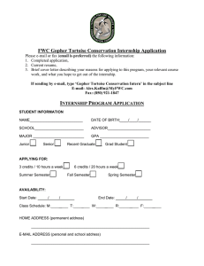 FWC Gopher Tortoise Conservation Internship Application