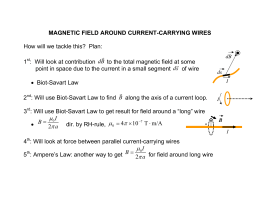 28. Magnetic Field due to current, Biot